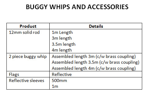 Trugrid Buggy Whips and Accessories