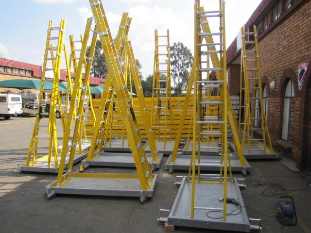 Trugrid trestle trolley ladders-1