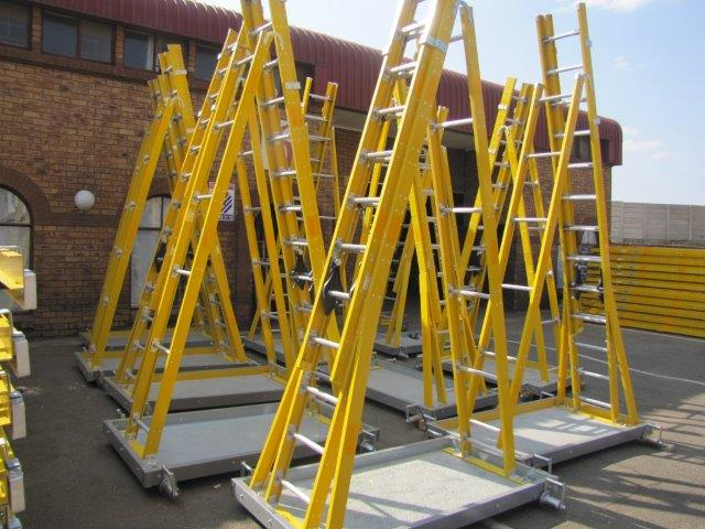 Trugrid trestle trolley ladders-2